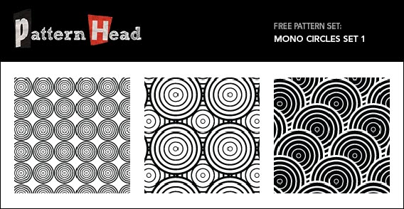 Free Vector Patterns – Mono Circles