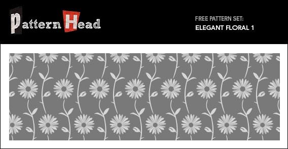 Free Vector Pattern – Elegant Floral