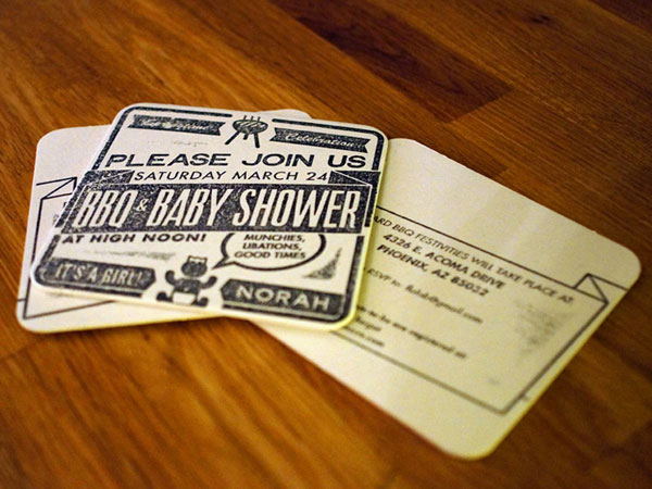 Baby Norah's Shower Invites Print Design Inspiration