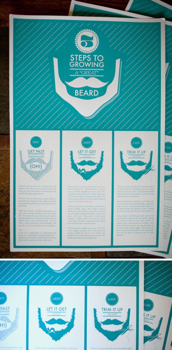How to Grow a Great Beard Poster Print Design Inspiration