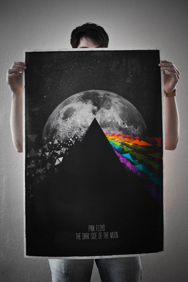 Pink Floyd - Dark Side of the Moon Poster Print Design Inspiration
