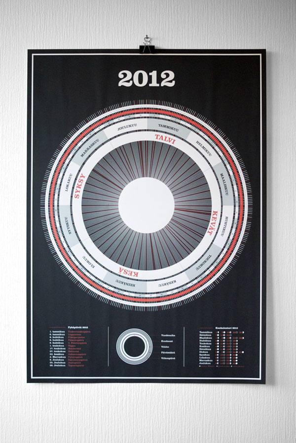 Calendar Poster Design : Impressive print inspiration well designed examples