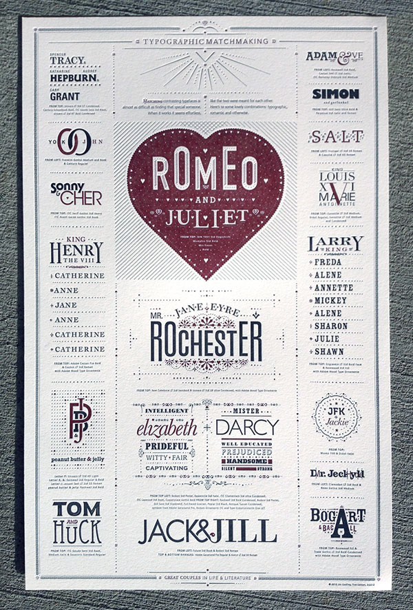 Typographic Matchmaking Poster Print Design Inspiration