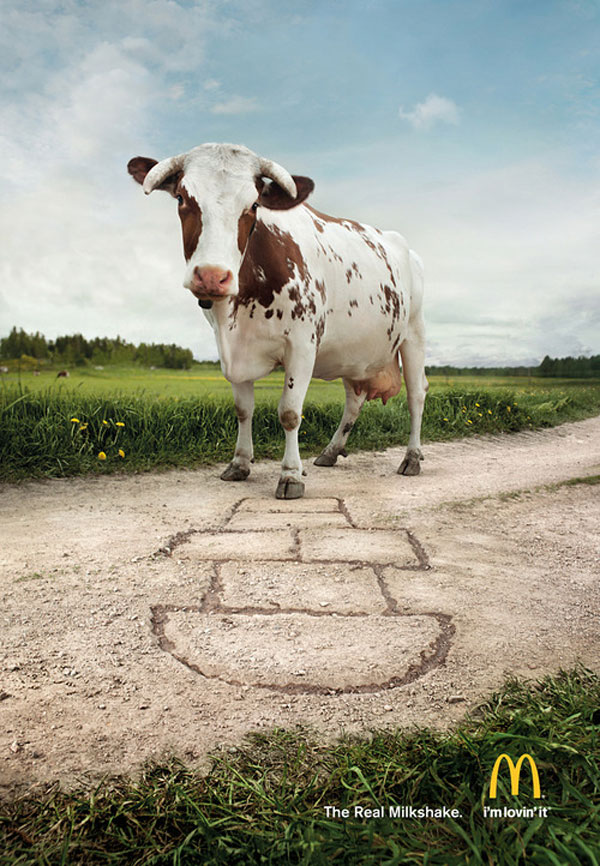 The Real Milkshake. Print Advertisement