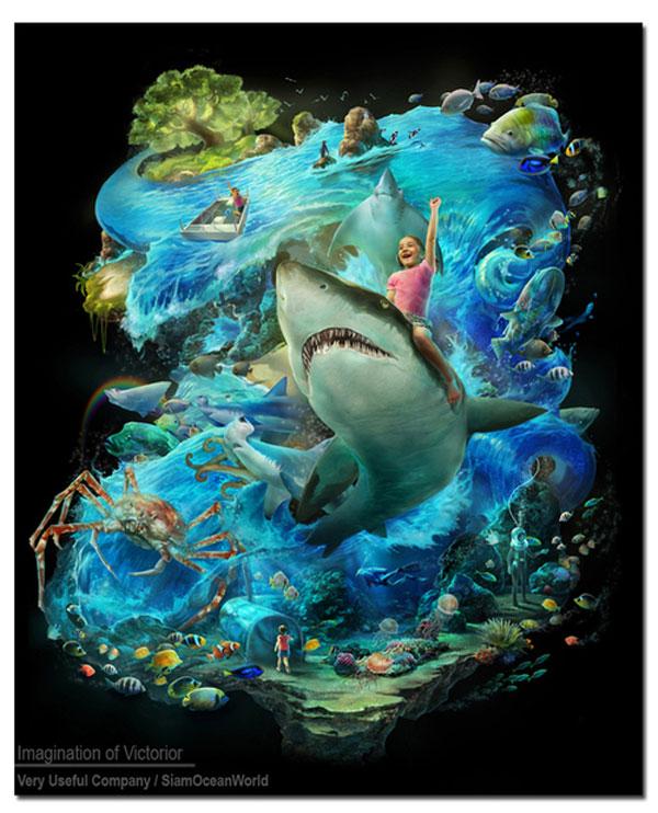 Siam Ocean World Photoshop Design Inspiration