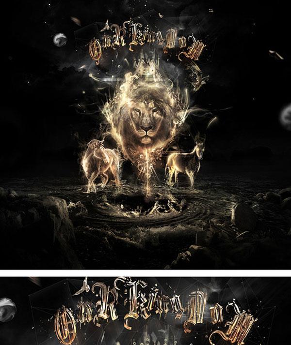Our Kingdom Photoshop Design Inspiration