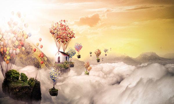 infinite sky Photoshop Design Inspiration