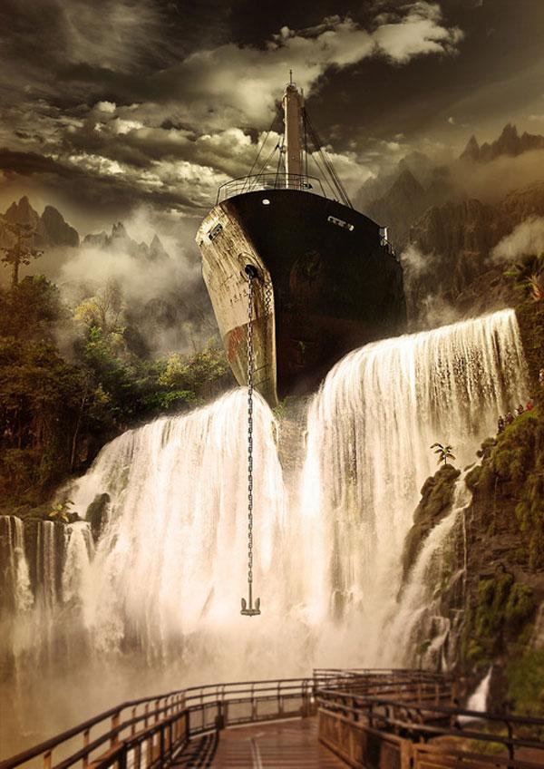 Ship Wreck Photoshop Design Inspiration