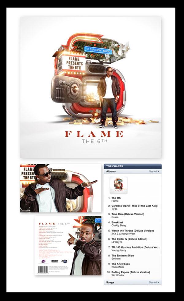 Flame Album Cover Photoshop Design Inspiration