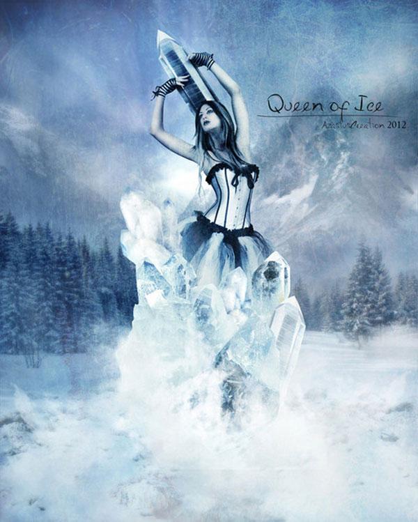 Queen of Ice Photoshop Design Inspiration