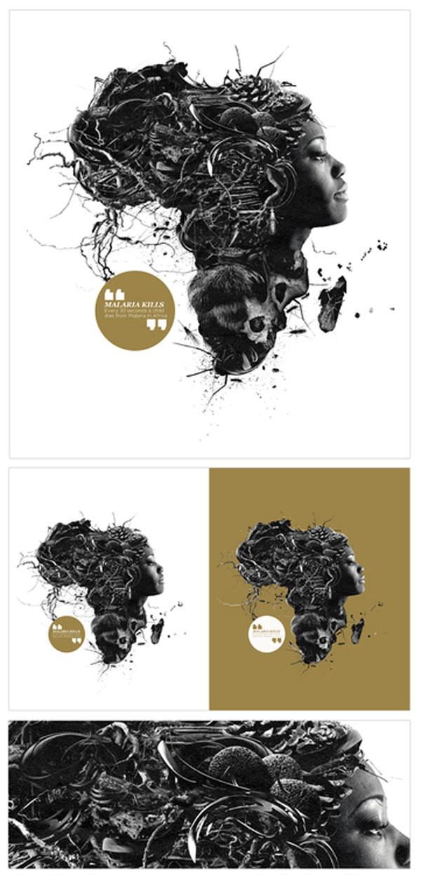 MALARIA NO MORE Photoshop Design Inspiration
