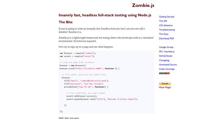 Zombie.js