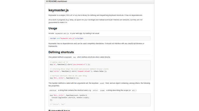 Javascript Plugins To Handle Keyboard Events - 18 Items