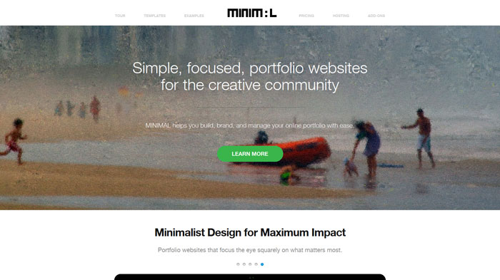 madebyminimal.com Landing page design