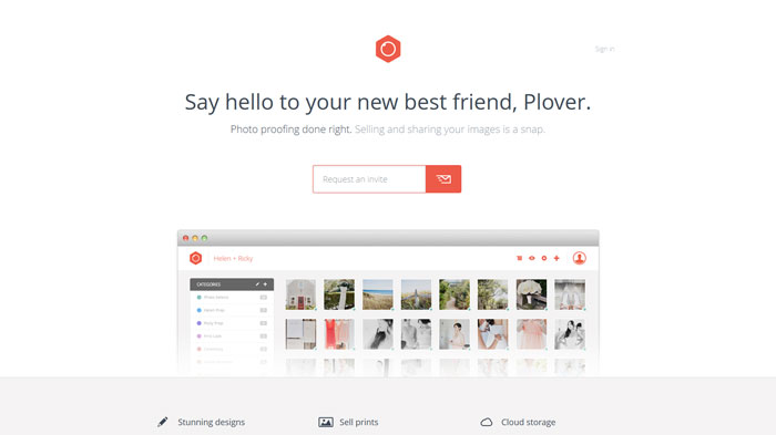 plover.co Landing page design