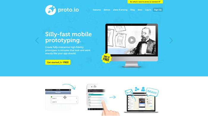 proto.io Landing page design