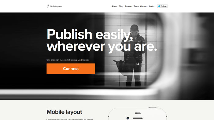scriptogr.am Landing page design
