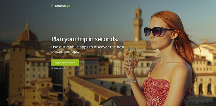 touristeye.com Landing page design