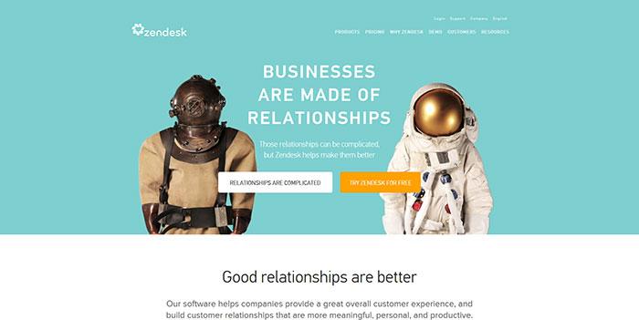 zendesk.com Landing page design