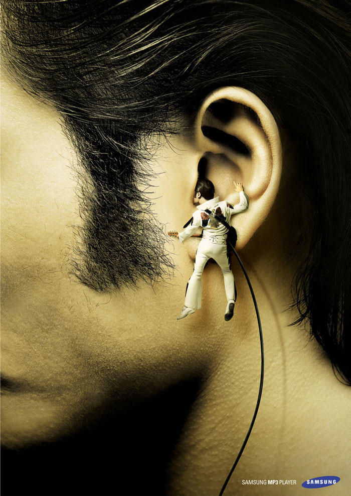 Samsung MP3 Player Print Advertisement