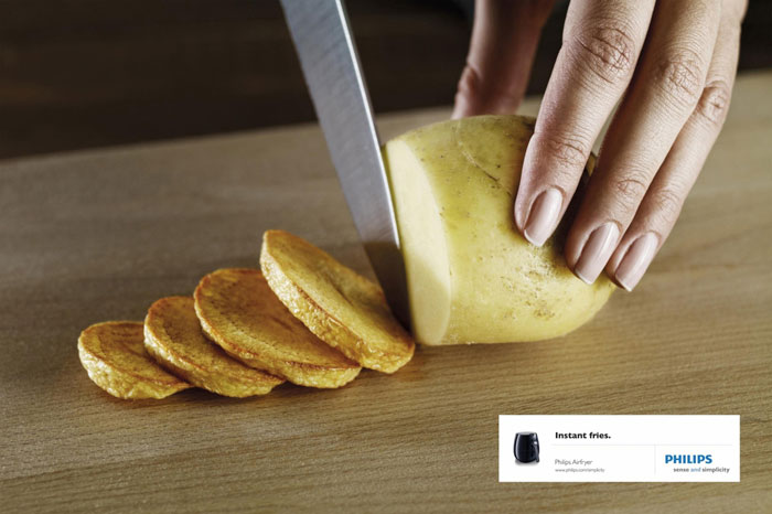 Instant fries Print Advertisement