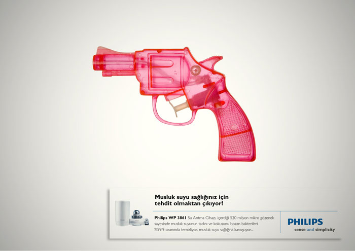 Tap water, is not a threat for you anymore Print Advertisement