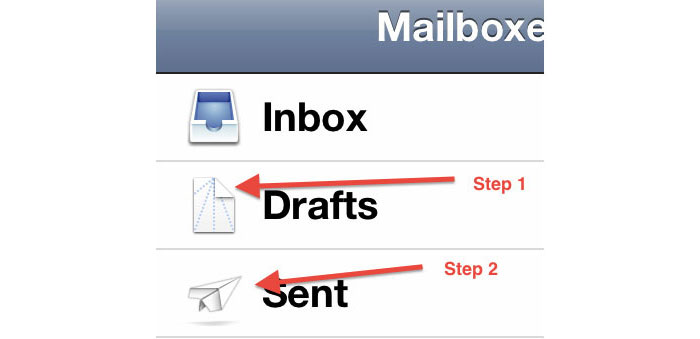 iOS Mail - The icons