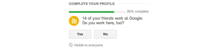 Google+ - Guesses where a user might work based on where their friends work.