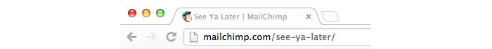 Mailchimp - The logout URL says