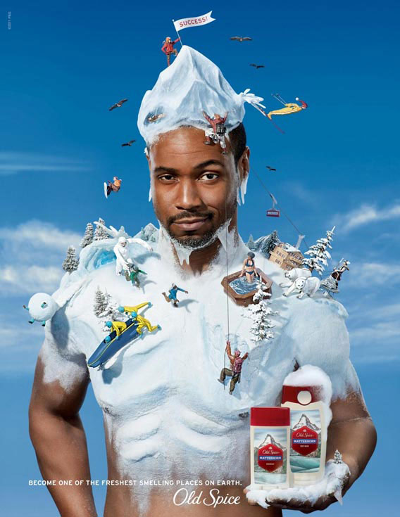 examples of photo manipulation in print advertisements old spice matterhorn 37 examples of photo manipulation in print advertisements