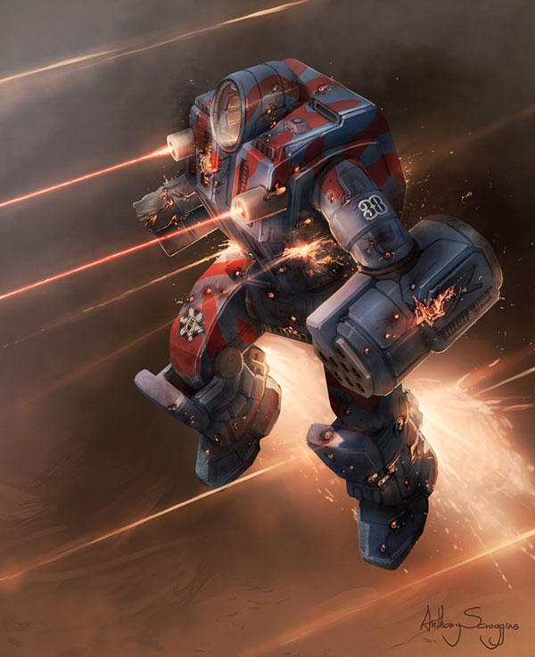 Battletech - Usling Assault Photoshop design inspiration