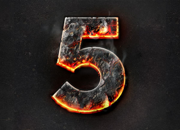 Lava Burning Text Effect with Photoshop Layer Styles Photoshop design inspiration