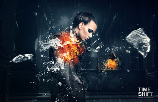 Time Shift Photoshop design inspiration