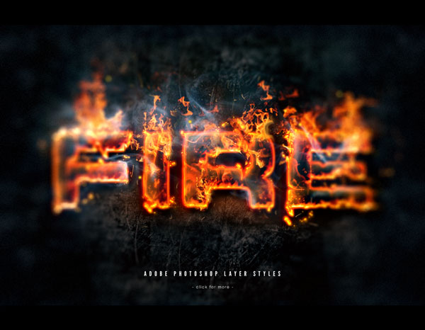 Flames and Text on fire with Photoshop Layer Styles Photoshop design inspiration