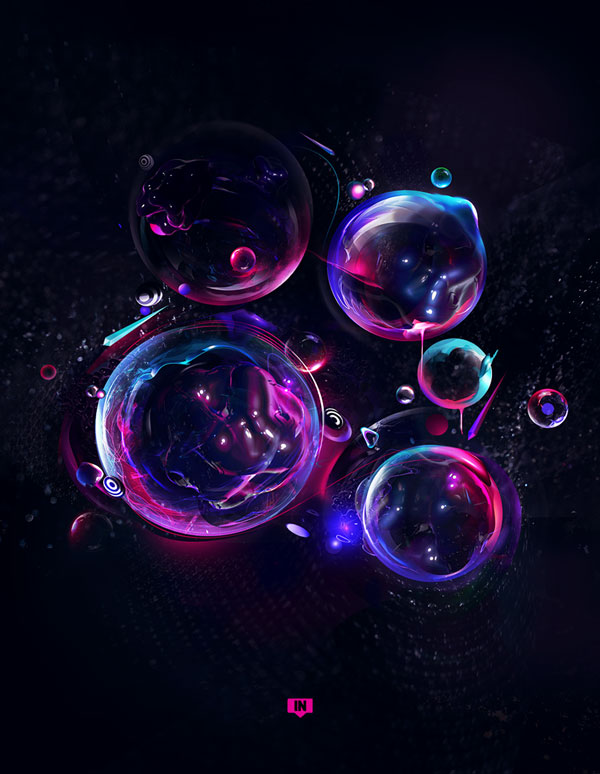 teardrops Photoshop design inspiration
