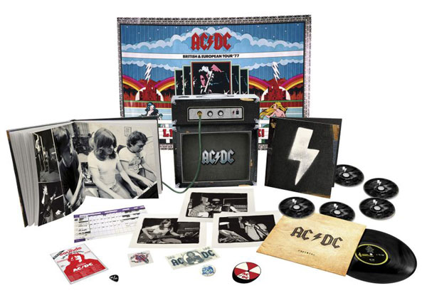 AC/DC Backtracks Deluxe Collector's Edition Package Design