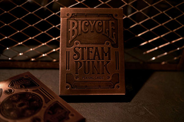 Steampunk Playing Cards Package Design