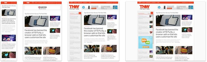 Responsive web design from The Next Web