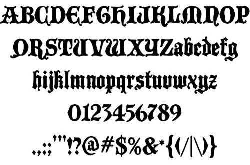 Black Castle MF font available for free download