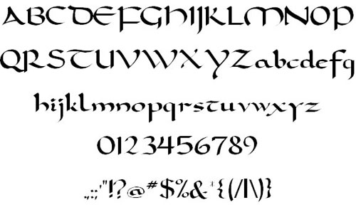 Carolingia font available for free download
