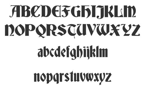 Deutsch Gothic font available for free download