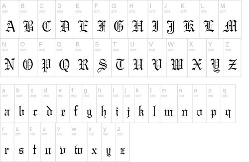 how to write old enlish