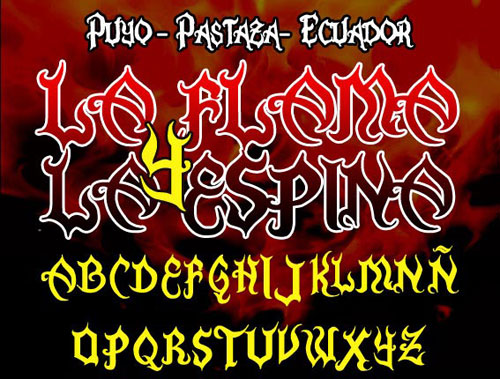 La Flama y La Espina font available for free download