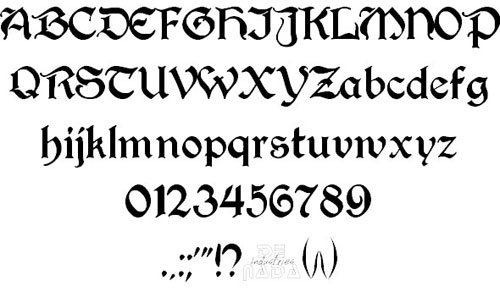 Perry Gothic font available for free download