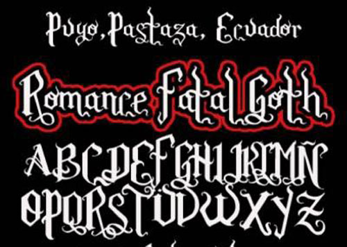 Romance Fatal Goth font available for free download