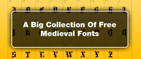 A Big Collection Of Free Medieval Fonts