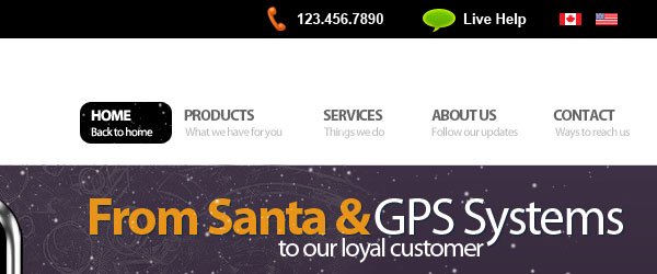 GPS Navigation Web Design