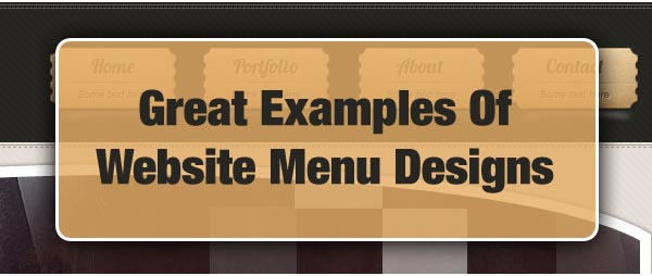 Great Examples Of Website Menu Designs
