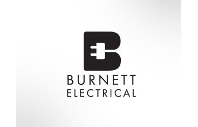 Burnett Electrical Black Logo Design Inspiration