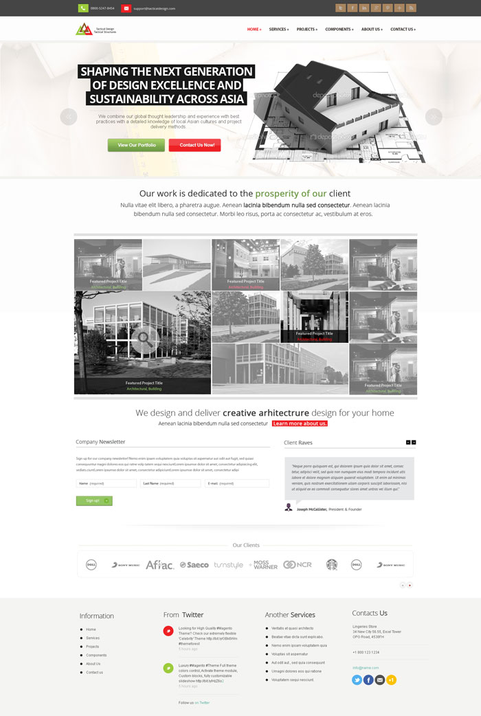 Modern website layout designs for inspiration 22 examples for Corporate newsletter design inspiration